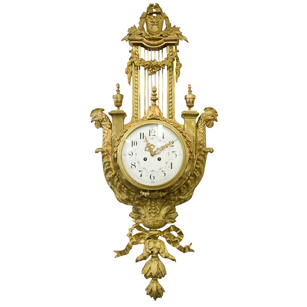 French Cast Brass And Ormolu Wall Clock Georgian Antiques