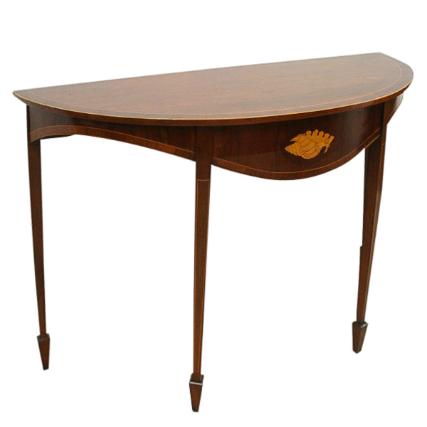 george iii style inlaid mahogany hall table georgian