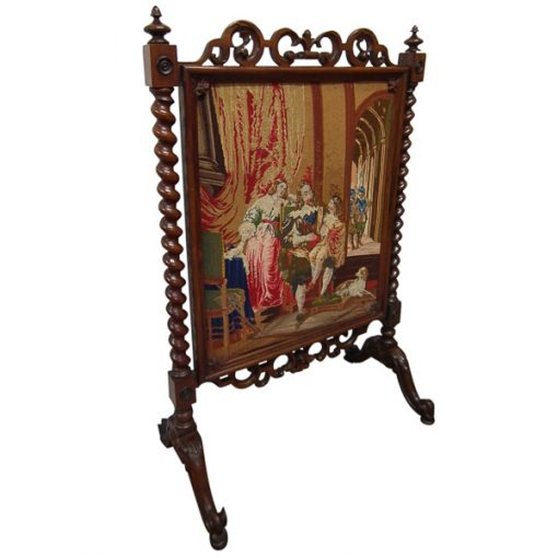 Early Victorian Rosewood Fire Screen Georgian Antiques