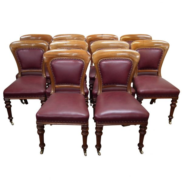 Set of 10 Mid Victorian Dining Chairs | Georgian Antiques