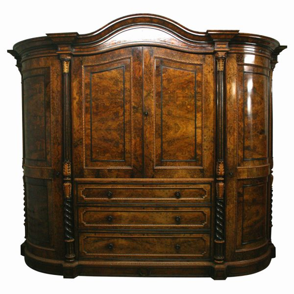 Armoires & Wardrobes Antique Walnut Wardrobes And Dressing Table 1900-1950
