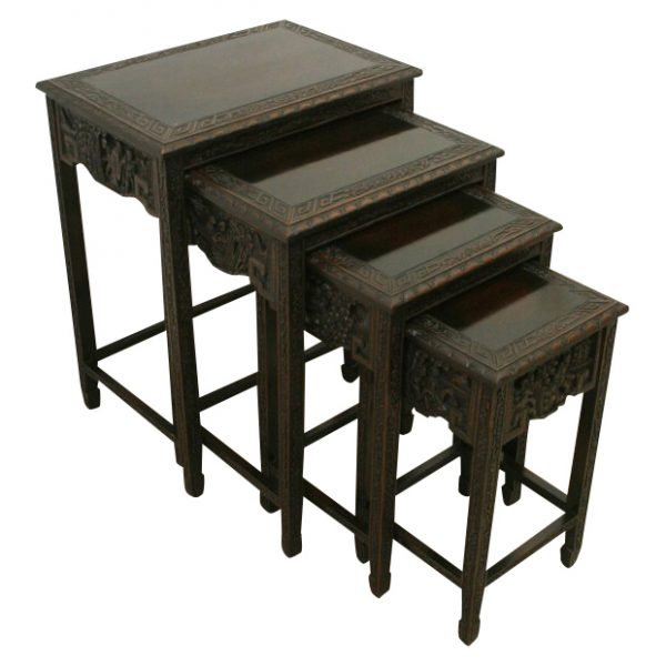 Nest of 4 chinese tables georgian antiques nest of 4 chinese tables watchthetrailerfo