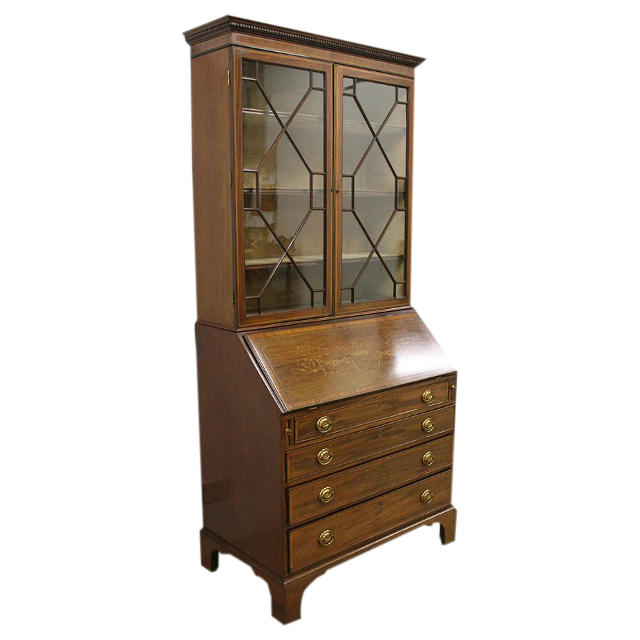 bureau secretaire bookcases georgian antiques. Black Bedroom Furniture Sets. Home Design Ideas