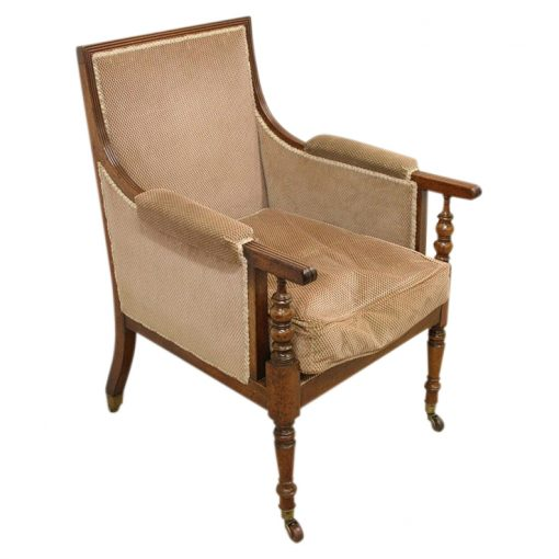 home products regency mahogany library chair