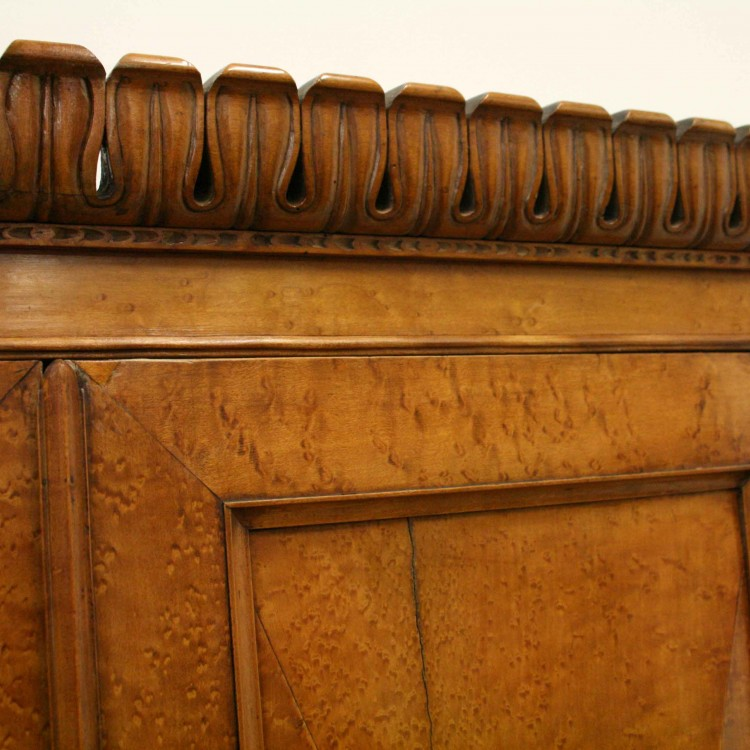 Victorian birds eye maple cabinet on stand georgian antiques for Birds eye maple kitchen cabinets