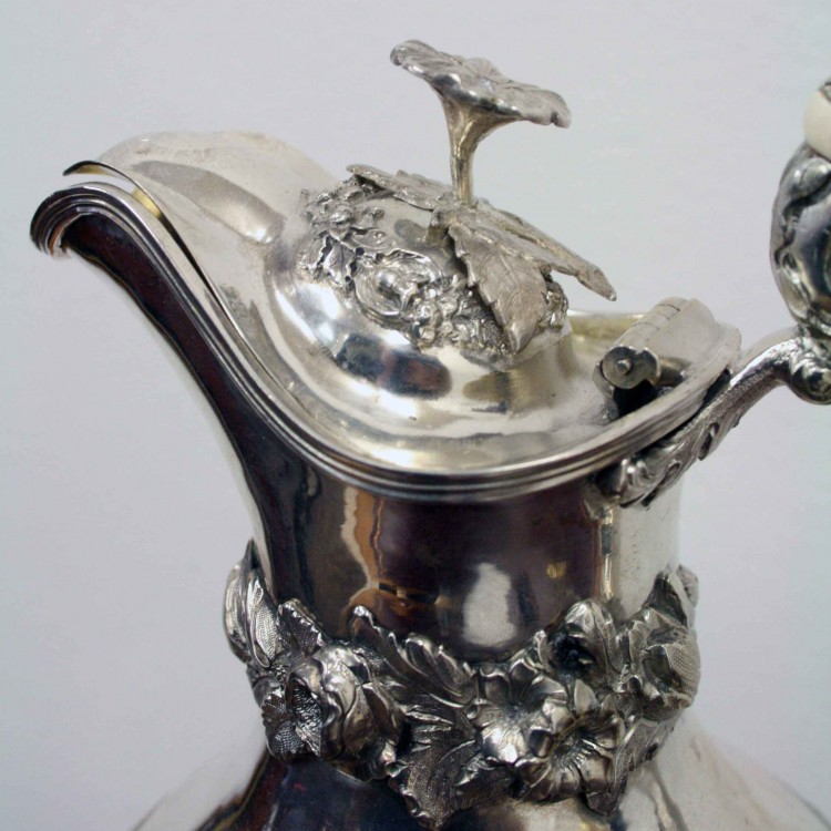 Collection Of Victorian Silver Claret Jugs Georgian Antiques