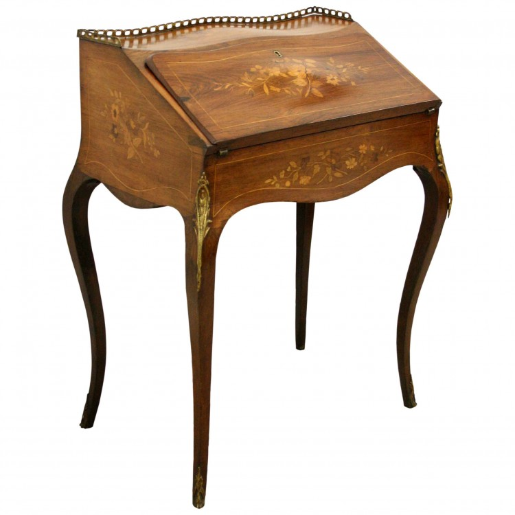 French Writing Desk Desk With Lockable Drawers