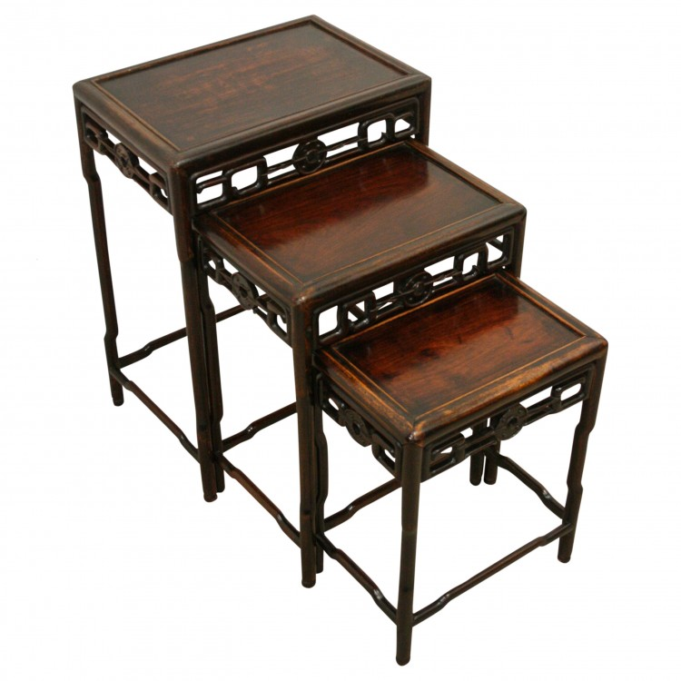 Chinese Nest Of Hardwood Tables Georgian Antiques