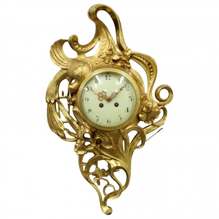 Art Nouveau Cartel Wall Clock | Georgian Antiques