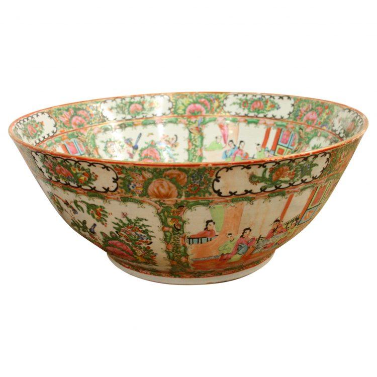 Large Canton Bowl Georgian Antiques