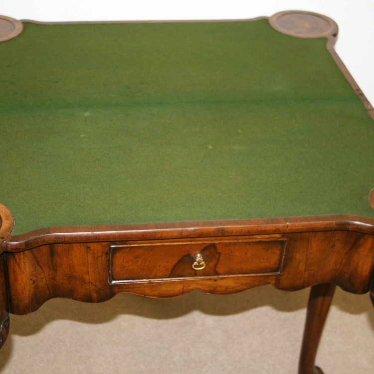 George ii style burr walnut games table georgian antiques for 11 x table games
