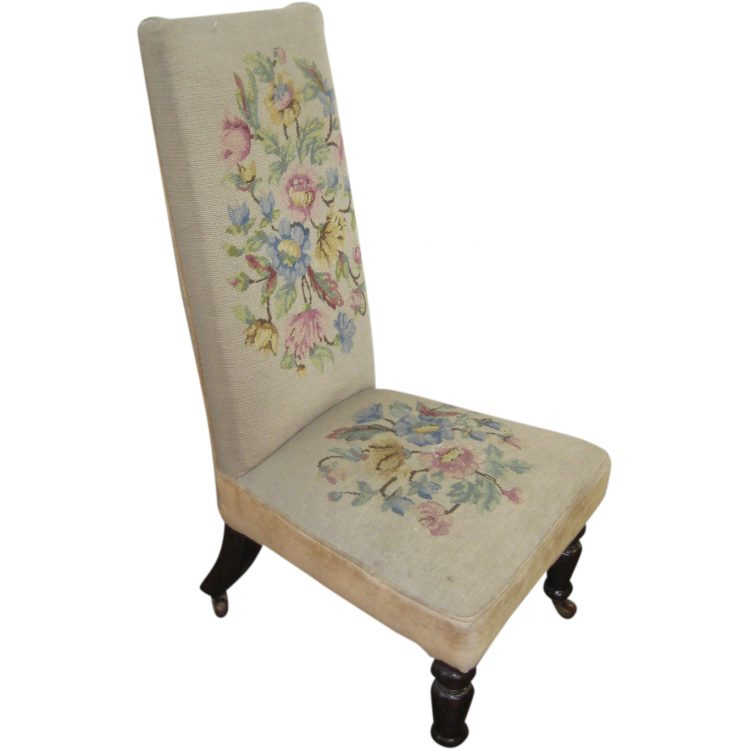 Victorian Nursing Chair With Needlepoint
