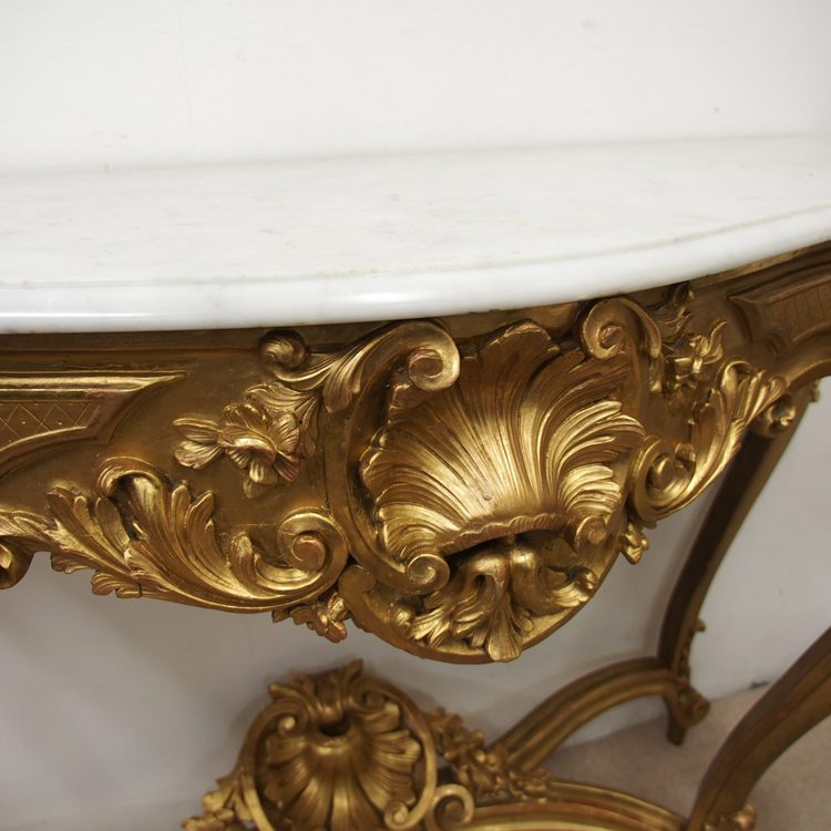 Victorian Marble Coffee Table: Victorian Marble Top Console Table