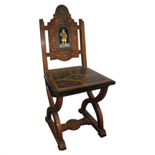 Italian Marquetry And Inlaid Hall Chair