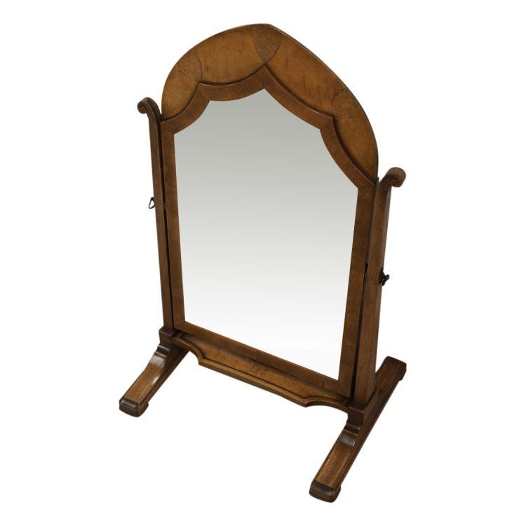 Rare Whytock And Reid Walnut Shaped Dressing Mirror