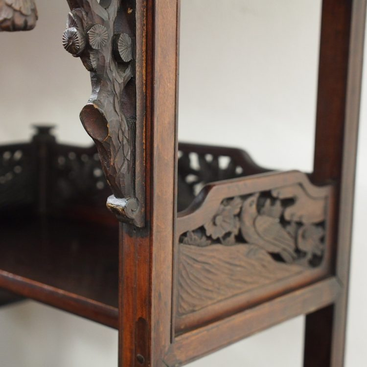 Shodona Style Lacquered Wood And Bone Inlaid Cabinet