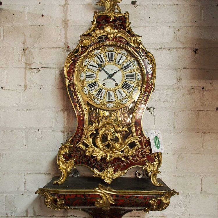 Louis Xv Style Boulle Marquetry Bracket Clock Georgian
