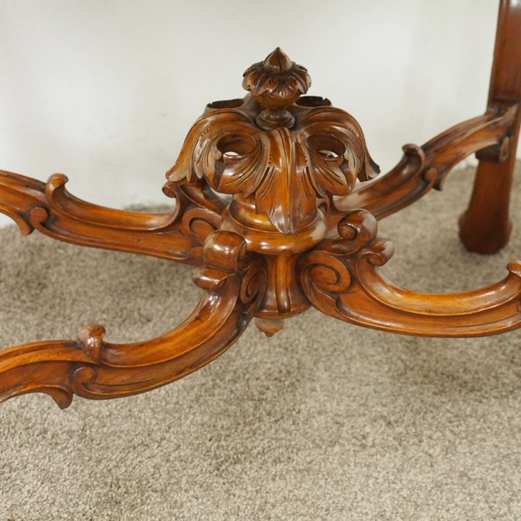 French Victorian Coffee Table: French Victorian Walnut Centre Table