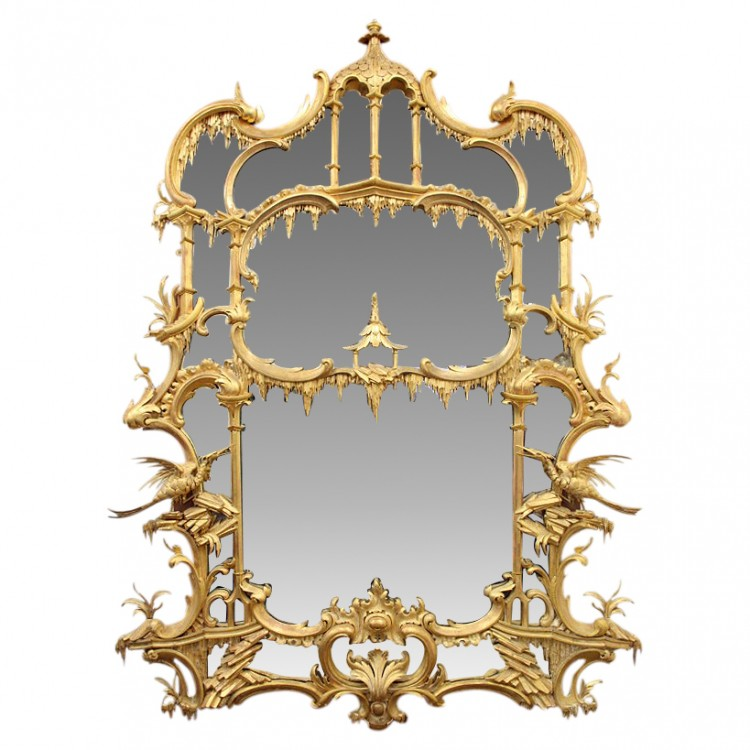 Antique Mirror Chippendale Style