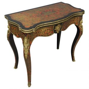 Antique Boulle Card Table Furniture